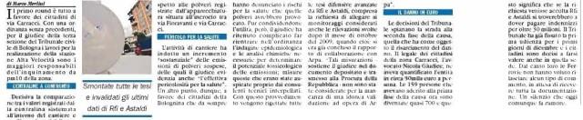 TAV, il Tribunale Civile dà ragione ai cittadini: vittoria non solo morale del diritto a Bologna