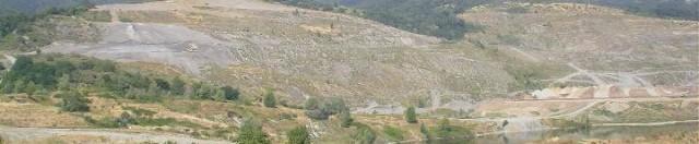 Area mineraria di Santa Barbara (foto scattata a luglio 2004)