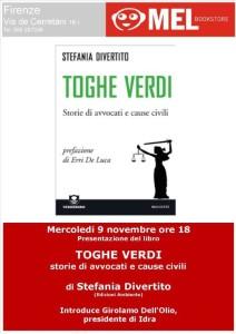 S. Divertito, Presentazione Toghe verdi, MelBookStore, 9.11.'11