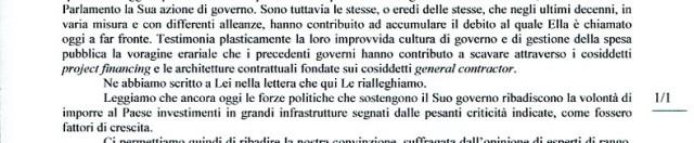 TAV, nuova lettera a Mario Monti dalla Val di Susa e da Firenze