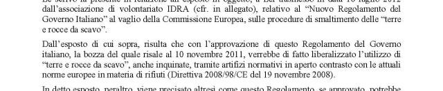 TAV: nuova normativa su terre da scavo e materiali di riporto. Idra interviene a Bruxelles. In difesa di Firenze. E non solo.