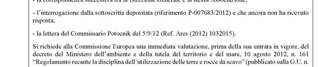 """Grandi opere e procedure di smaltimento delle """"terre e rocce da scavo"""" in Italia: la presidente della Commissione Antimafia Europea non demorde"""