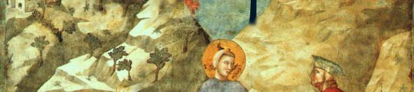 Giotto rivisitato (a cura di Fabio Innocenti), S. Francesco dona il mantello a un povero, Basilica superiore, Assisi