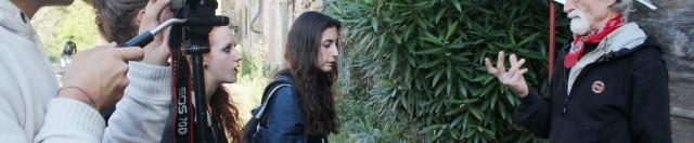 Gualchiere di Remole - Gli studenti Fotografi del 'L. da Vinci' di Firenze intervistano Piero Gensini, l'artista che resiste