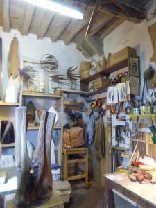 Gualchiere di Remole - Un angolo dell'atelier dello scultore testimone Piero Gensini