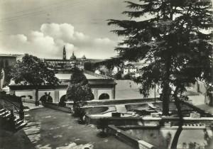 Caserma V. Veneto, Scuola di Sanità Militare, Cortile - Cartolina d'epoca