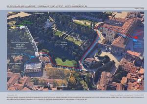 Collegamento Pitti - Boboli - resort nel progetto consegnato al Comune di Firenze