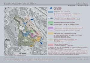 Le aree interrate proposte nel sottosuolo del 'Poggio delle Rovinate'