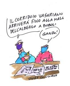 Giuliano - Il Corridoio Vasariano fino alla hall del resort 5 stelle