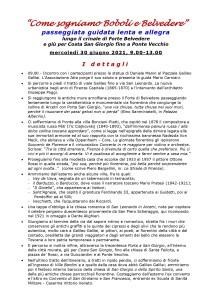 Come sogniamo Boboli e Belvedere, 30 giugno 2021 - I dettagli
