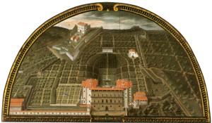 Giusto Utens, Palazzo Pitti e il Giardino di Boboli, 1599-1602 (in 'Museo di Firenze com'era'... quando ancora c'era)
