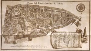 Pianta del Reale Giardino di Boboli, Planimetria antica (fine XVIII secolo, inizio XIX) - Da Wikipedia