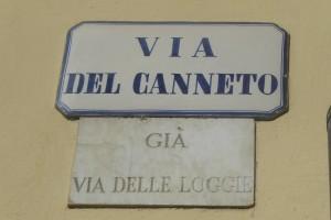 Via del Canneto, targa